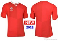 2019 Copa do Mundo de Gales 2019 Home Test Match Day Rugby Camisa equipe nacional galês rugby jerseys s-3xl