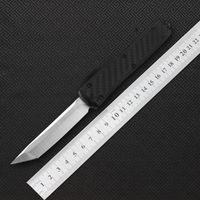 MIKER нож 12 стиль двойного действия из углеродного волокна Тактический нож складной нож, высокое качество VG10 сталь из углеродного волокна
