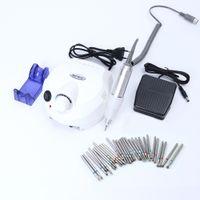 30000 RPM Tırnak Matkap Uçları Elektrikli Makine Mills Tırnak Parlatıcı Aparatı Dosyaları Döner Burr Jel Lehçe Manikür Araçları BEDR401