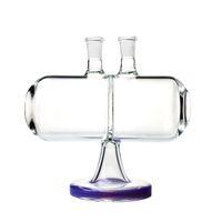 Nuovo Vetro Acqua Bong Infinity Cascata invertibile Gravity 7 pollici in vetro tubo di acqua Oil Rig Dab 14 millimetri femminile congiunta fumatori Bong Con Bowl