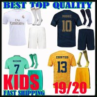 Top 2019 2020 psg kids kits Real Madrid white soccer jersey ...