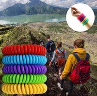 Nuovo braccialetto repellente della zanzara Stretchable elastico spirale bobina mano Wrist Band telefono anello della catena della Anti-zanzara braccialetto