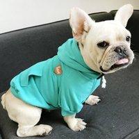 الأزياء تيدي الصغيرة ملابس الحيوانات الأليفة 2020 الربيع التطريز القطن الكلب الملابس عالية الجودة 3 ألوان هوديس