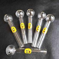 Venta caliente de cristal del aceite Burner Tubos pyrex quemador de aceite de cristal cuchara Tubos de mano Tubo de tabaco por Artículos para Fumadores