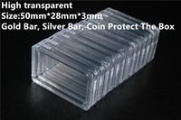 1 oz Altın Külçe Gümüş Çubuk Kutusu Akrilik Şeffaf Plastik Kare Kutu Değerli Metaller Oksidasyondan Koruyun
