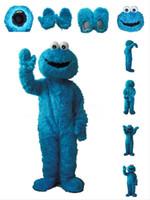Heißer verkauf sesamstraße cookie monster maskottchen kostüm elmo maskottchen costumefancy party dress anzug versandkostenfrei