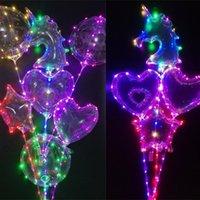 يونيكورن شكل LED الكرة بوبو مضيئة بالون 3M سلسلة الأنوار المتلألئة كرات البالونات Chirstmas حفل زفاف الديكور الهدايا شجرة C121902
