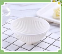 Disposable soup bowl white 5oz round leakproof environment f...