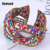 Kymyad Bohemian Beads Multilayer Bracelets & Bangles For Wom...