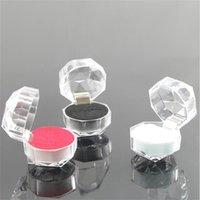 3 colores joyas cajas de paquetes de anillo pendiente Pendiente de pantalla de plástico Transparente Empaquetado de boda Caja de almacenamiento Organizador