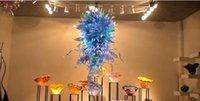 Moderna Art Decor in vetro soffiato Lampadario Fiore Progettato Vetro Materiale di lampadine LED lampadario luce casa Foyer Decorazione per vetro Lampade a sospensione
