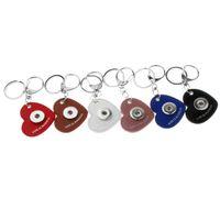 20 pcs / lot nouveaux boutons PU En Cuir Snap Porte-clés Porte-clés Fit 18mm Snap Lanière Pendentif Mode Femmes Bijoux Pour Sac # MLR102
