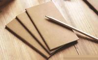 A5 소 가죽 노트북 종이 빈 메모장 책 빈티지 크래프트 종이 작은 노트북 낙서 스케치 크리 에이 티브 간단한 편지지 도매