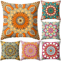 40 # 45x45cm Mandala Flower Square Cuscino quadrato Federa Divano letto Car Chair Decor Federa