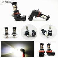 1 par H1 H3 H7 H8 H10 H11 880 881 Bombillas LED HB4 9006 HB3 9005 Niebla Luces de conducción de la cola de estacionamiento de la lámpara DRL 12V - 24V 6000K blanca