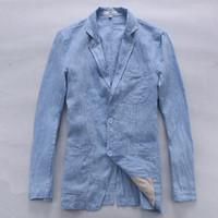 İtalya marka keten ceket erkekler sonbahar uzun kollu keten erkekler ceket katı moda ceketler Iş rahat jaqueta masculina