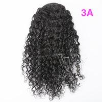 Mongolischer 12 bis 26 zoll 140g menschliches haar kein verwirrt nein sheddin unverarbeiteter kordelzug ponytail natürlich schwarz afro lockig weben elastische band bindung
