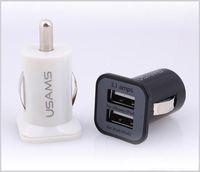 스마트 전화 MQ500를위한 좋은 품질 USAMS 3.1A 듀얼 USB 자동차 2 포트 충전기 5V 3100mah 이중 플러그 자동차 충전기 어댑터