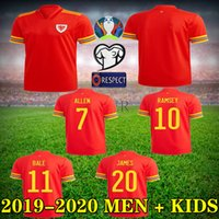 2020 European cup jersey 19 20 Welsh Soccer Jersey red Home ...