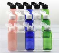 Cute 50ml Clear Flip Top Cap Bottle Transparent Small Simple...