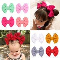 24Pcs Kid Girls 4. 7 Inch Solid Double Layer Hair Bow Hairpin...