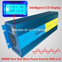 Freeshipping Display LCD 6000 W Pico 3000 W Conversor de Energia de Onda Senoidal Pura 12 V DC para 220 V / 230 V / 240 V AC
