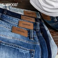 SIMWOOD Slim Fit Jeans Erkekler Klasik Vintage Yüksek Kaliteli 2019 sonbahar sonbahar Yeni Casual Streetwear Denim pantolonlar 190.026 LY191210 Yıkanmış