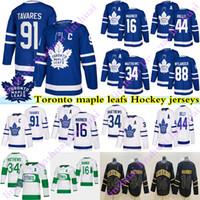 Toronto Ahornblätter Jersey 91 John Tavares 16 Mitch Marner 34 Auston Matthew 88 William Nylander 44 Morgan Rielly Andersen Hockey Trikots