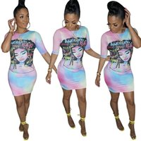 Gonna stampata per donna Multicolor Letters Graffiti Bandage Bow Grande Swing Skirt Fashion Casual Long Skirts