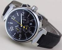 Modische und einzigartige Herren Armbanduhr Chronograph Quarz im Freien Herrenuhren Uhr schwarzes Zifferblatt mit weißen Zahlenmarkierungen