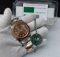 Erkek 41mm AR Fabrika DATEJUST Paslanmaz Otomatik 2824 ETA Çikolata Dial 18 K Rose Gold 904L Çelik Perpetual Erkekler DATEJust Superlicative Watch