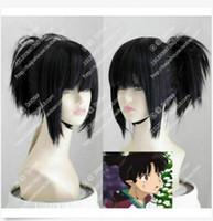 الحرة shippingHot بيع! باختصار الأسود ذيل الباروكة تأثيري + هدية Hairnet