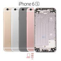 10 Adet Konut Metal Arka Pil Kapağı iphone 6 s 6 s artı Orta Şasi Çerçeve Arka Kapı Pil Kutusu