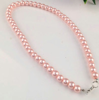 Single Strand imitación de imitación Pearl 8mm Pearl BIB Declaración Collar Joyería Regalo Moda Mujer Cadena corta Joyería fina para las mujeres
