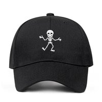 2019 New Skeleton Embroidery Design Basebll Cap Cotton hat F...