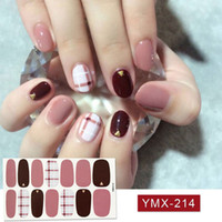 14tips sheet Beauty Nail Art Stickers Full Cover Sticker Wraps Decorations DIY Manicure Slider Nail Vinyls Adhesive Nails Decals C19011601