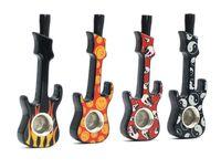 Creativo in lega di zinco mappatura chitarra modanatura tubo con coperchio Spot all'ingrosso multicolore violino tubo di metallo