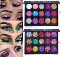 Макияж бренда CMAADU / палитра / для век, 15 цветных блеск глазные тени алмазные блестки блестящие тени для век Палитра фирменных сияющих глаз макияж