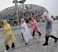Desechables PE impermeable de edad Una vez Emergencia impermeable del poncho de la capilla de viajes de campaña debe capa de lluvia al aire libre ropa impermeable