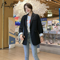 PEONFLY Solid Color Casual Blazer Damen OL Fashion Elegante Strickjacken New Khaki Retro Slim Jacken Vintage Office Lady Workwear