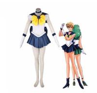 Athemis аниме Sailor Moon Харука Tenoh / Sailor Uranus Косплей сделал высокого качества платья
