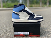 1 Obsidian 1s OG Top Quality With Box Bianco blu nero Novità 1 Uomo Scarpe da basket Athletic Sport Sneakers