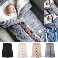 Newborn Caby зима теплые спальные мешки младенческие кнопки Щитью пеленаут wrap rowdling коляска обертывание малыши одеяло спальные мешки