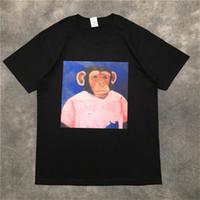 Calle de la moda para hombre de la camiseta 2020 del patrón del mono polo de manga corta de las camisetas del suéter Hombres Mujeres Parejas clásica de la alta calidad de camiseta