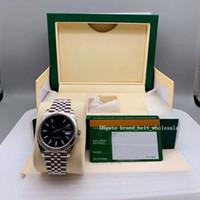 2020 Sprzedawca Poleć wysokiej jakości Azja 2813 MuvingDateJust 41 126334 Niebieski wybieranie 18k White Gold Steel Automatyczne męskie zegarek