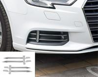 Garniture de couverture de bande de lampe d'antibrouillard avant de voiture inoxydable pour Audi A3 S3 8V 2014-2019