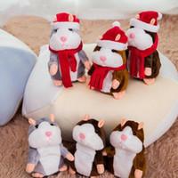 Hamster Hamster Mouse Pet Dolls Muñecas Hablando Sound Récord Hamster Relleno Juguetes Educativo Juguete Navidad Niños Regalos 15cm D6329