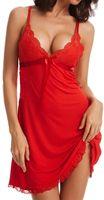 زائد الحجم 3XL انظر من خلال الملابس الداخلية جنسي المرأة الرباط بيبي دول اللباس ملابس داخلية Babydolls القمص ملابس النوم شير