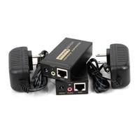 100m HD 1080p UTP VGA Extender RJ45 1x1 Splitter com 3,5 milímetros de áudio RJ45 / cat5e / 6 cabo Ethernet para o Projetor HDTV PC VE100