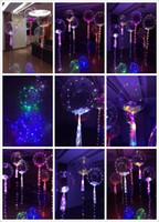 2017 Yeni Işık Up Oyuncak LED Işıklar Flaşör Aydınlatma Balonu Dalga Topu 18inch Helyum Balonlar Noel Cadılar Bayramı Dekorasyon Oyuncak